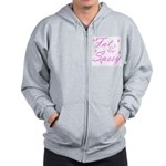 FAT AND SASSY Zip Hoodie