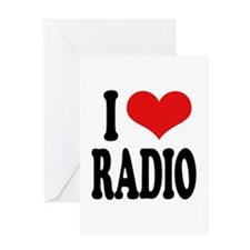 I Love Radio Greeting Card