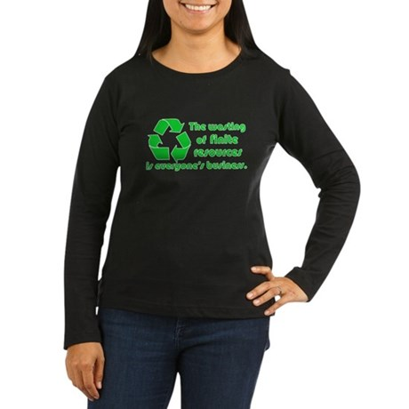 Twilight Edward Quote Women's Long Sleeve Dark T-S
