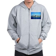 New York City Skyline Zip Hoodie