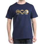 Peace Love Fries Dark T-Shirt