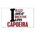 Bleed Sweat Breathe Capoeira Rectangle Sticker