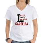 Bleed Sweat Breathe Capoeira Women's V-Neck T-Shir