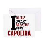 Bleed Sweat Breathe Capoeira Greeting Cards (Pk of