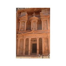 Treasury at Petra Rectangle Magnet