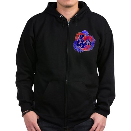 Fourth of July Zip Hoodie (dark)