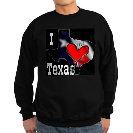 I Love Texas Sweatshirt (dark)
