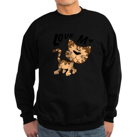Love My Cat Sweatshirt (dark)