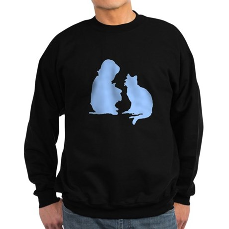 Child and Cat Sweatshirt (dark)