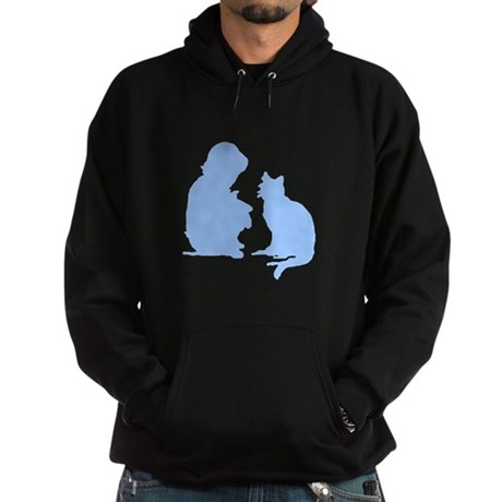 Child and Cat Hoodie (dark)