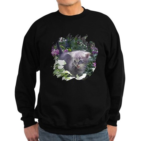 Flower Kitten Sweatshirt (dark)