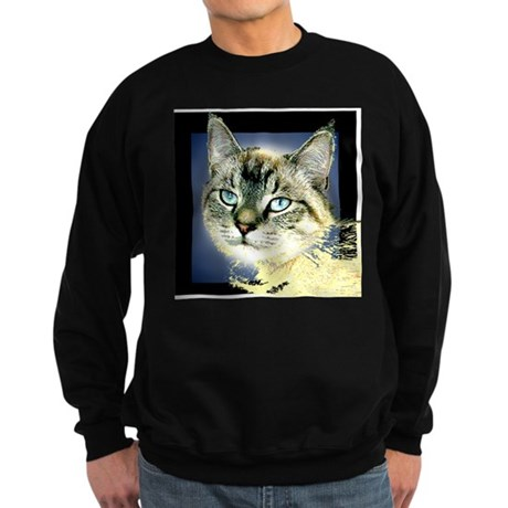 Blue Eyed Kitten Sweatshirt (dark)