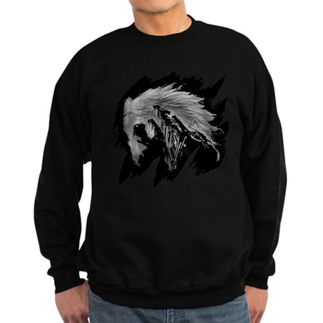 Horse Sketch Sweatshirt (dark)