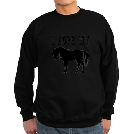 I Love My Pony Sweatshirt (dark)