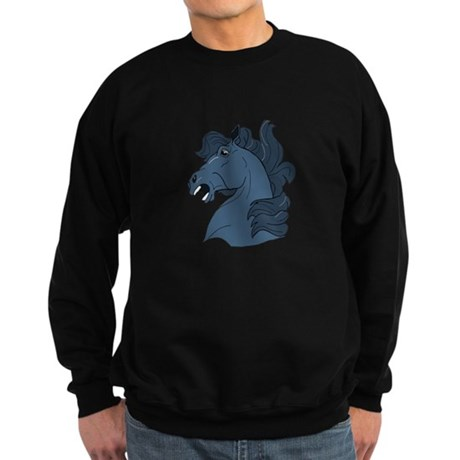 Blue Horse Sweatshirt (dark)