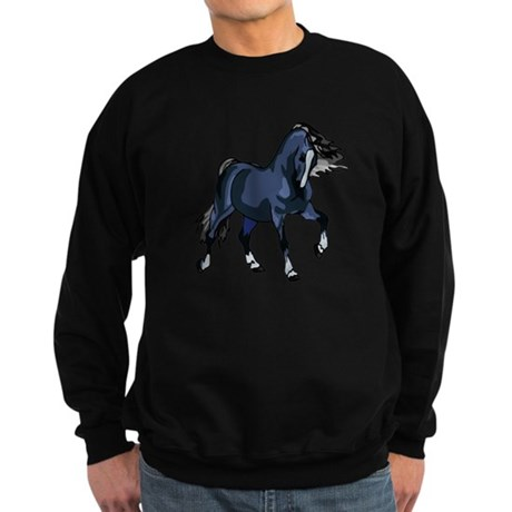 Fantasy Horse Blue Sweatshirt (dark)