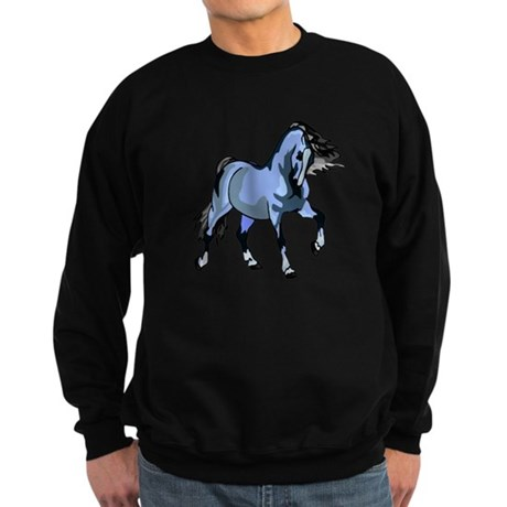 Fantasy Horse Light Blue Sweatshirt (dark)