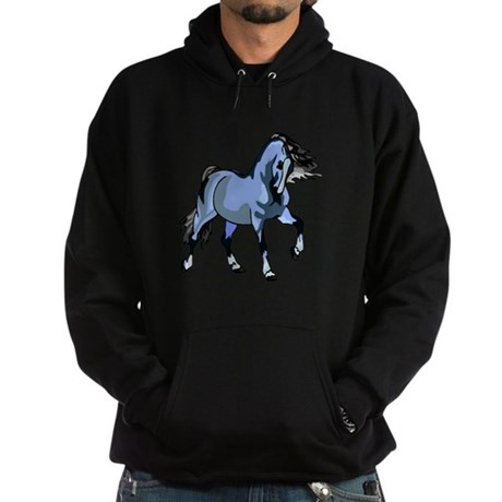 Fantasy Horse Light Blue Hoodie (dark)