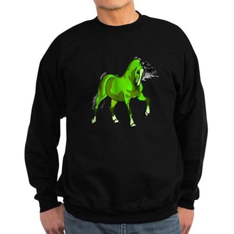 Fantasy Horse Lime Sweatshirt (dark)
