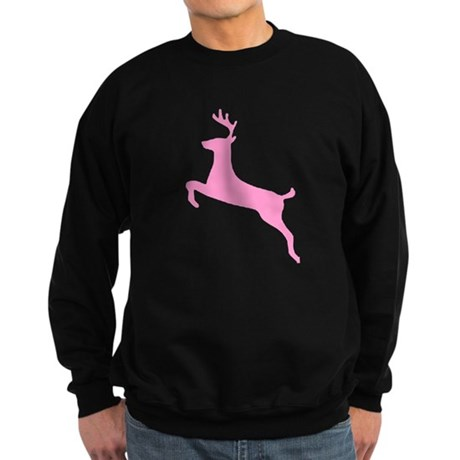 Pink Leaping Deer Sweatshirt (dark)