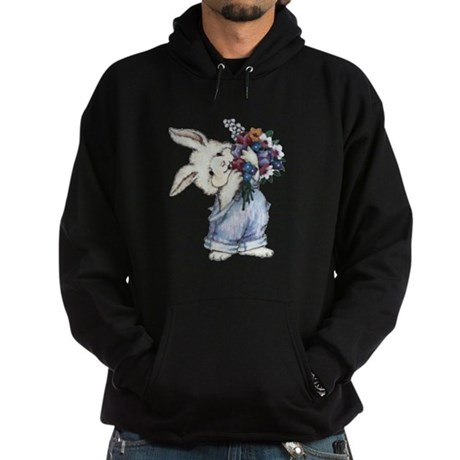Bunny with Flowers Hoodie (dark)