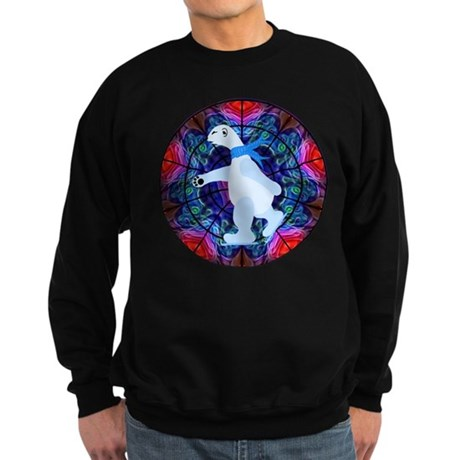 Skating Polar Bear Sweatshirt (dark)