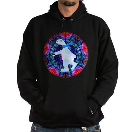Skating Polar Bear Hoodie (dark)