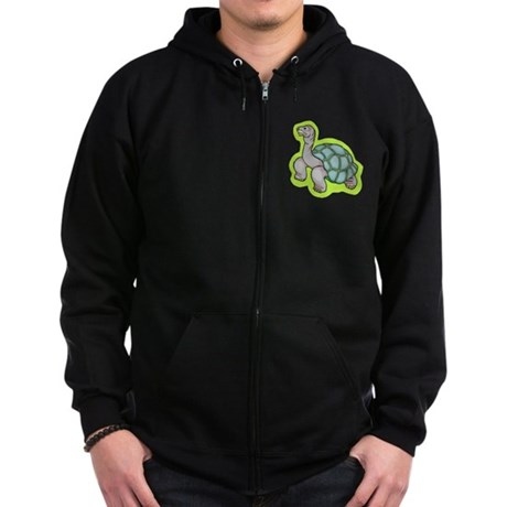 Little Turtle Zip Hoodie (dark)