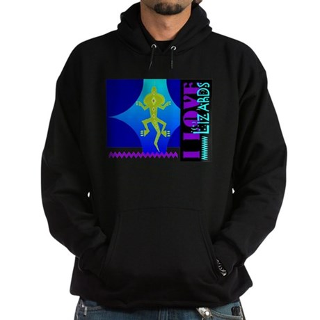 I Love Lizards Hoodie (dark)
