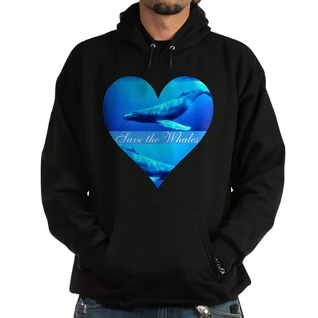 Save the Whales Hoodie (dark)