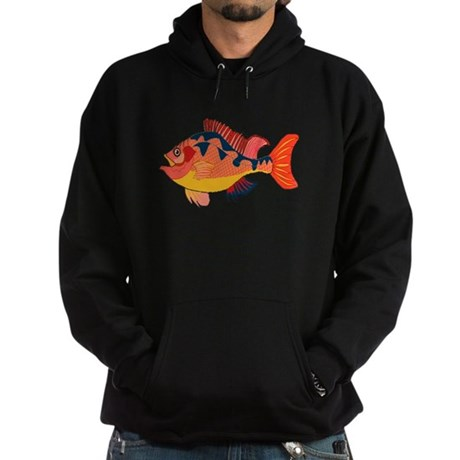 Colorful Fish Hoodie (dark)