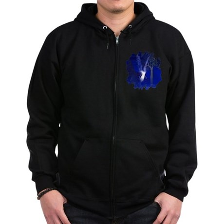 Iridescent Angel Zip Hoodie (dark)