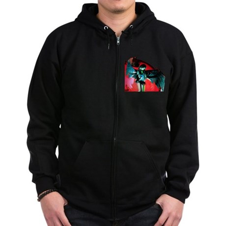 Angel Art Zip Hoodie (dark)