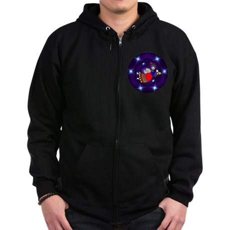 Christmas Angel Zip Hoodie (dark)