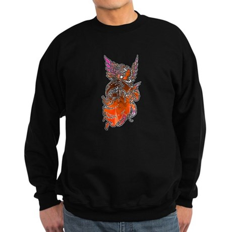 Pretty Orange Angel Sweatshirt (dark)