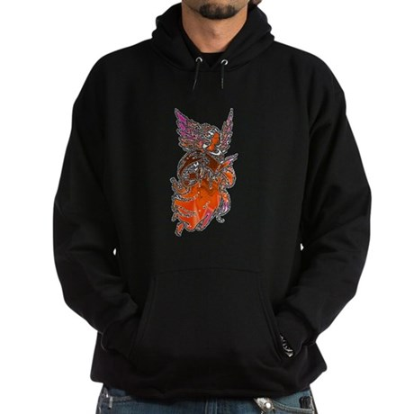 Pretty Orange Angel Hoodie (dark)