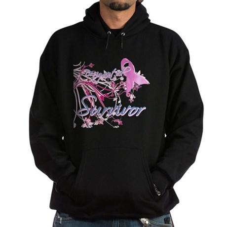 Pink Ribbon Survivor Hoodie (dark)