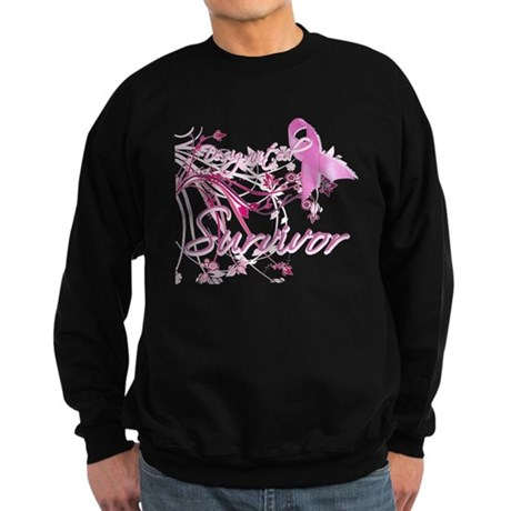 Pink Ribbon Survivor Sweatshirt (dark)