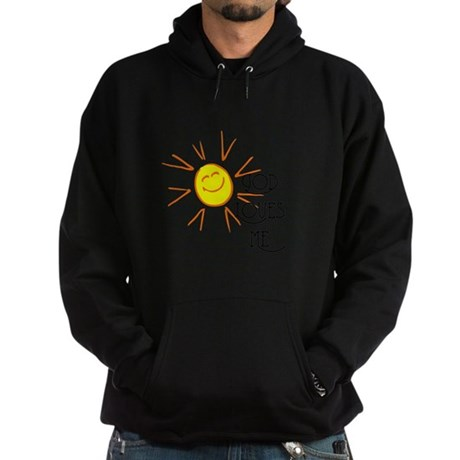 God Loves Me Hoodie (dark)