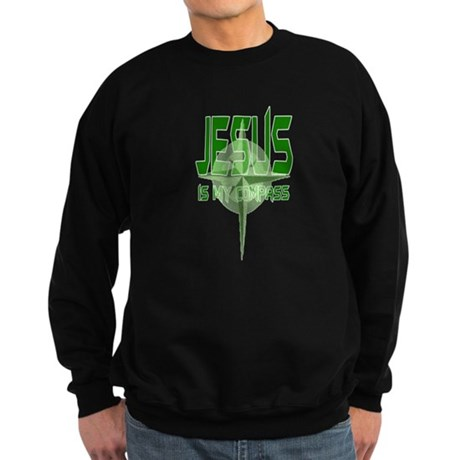 Jesus is My Compass - Green Sweatshirt (dark)