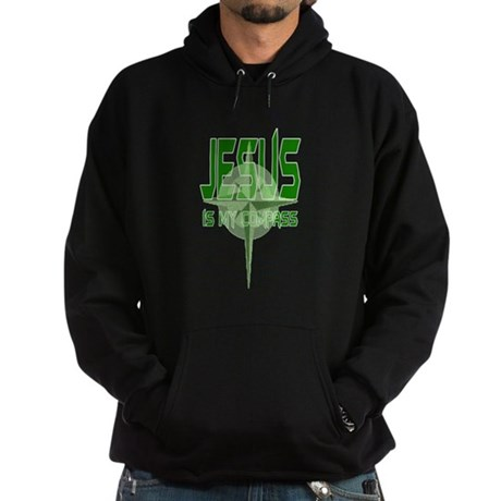 Jesus is My Compass - Green Hoodie (dark)