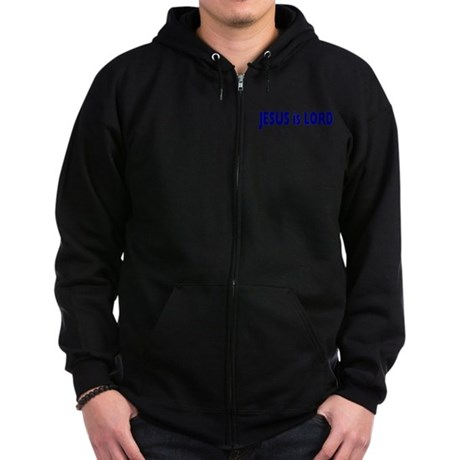 Jesus is Lord Zip Hoodie (dark)