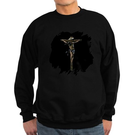 Jesus on the Cross Sweatshirt (dark)