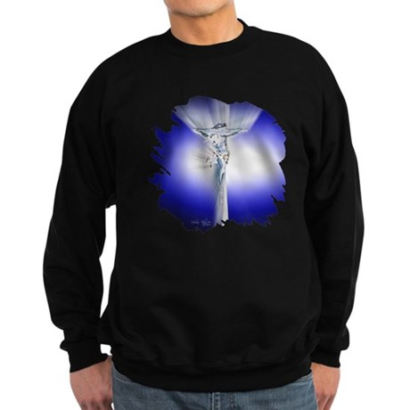 Jesus on Cross Sweatshirt (dark)