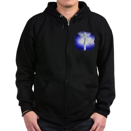 Jesus on Cross Zip Hoodie (dark)