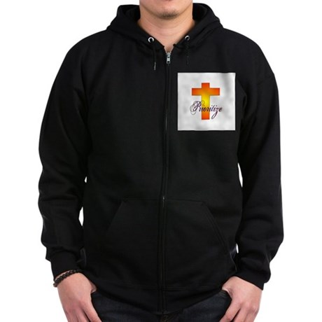 Prioritize Cross Zip Hoodie (dark)