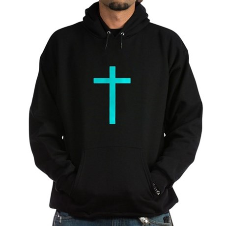 Teal Cross Hoodie (dark)