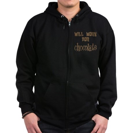 Work for Chocolate Zip Hoodie (dark)