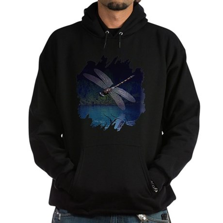 Dragonfly at Night Hoodie (dark)
