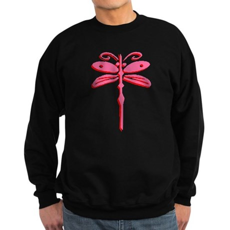 Pink Dragonfly Sweatshirt (dark)